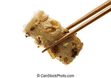 fish paste - Grabbed fish paste with chopsticks  Hotchpotch