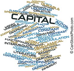 Capital - Abstract word cloud for Capital with related tags...