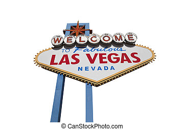 Las Vegas Sign Isolated with Clipping Path