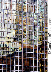 Abstract reflection - Abstract, distorted image of a...