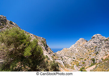 Mountain highway on Mallorca, Spain