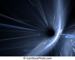 black hole - An illustration of a high gravity black hole