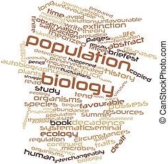 palavra, nuvem, população, Biologia