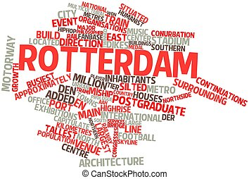 Rotterdam - Abstract word cloud for Rotterdam with related...
