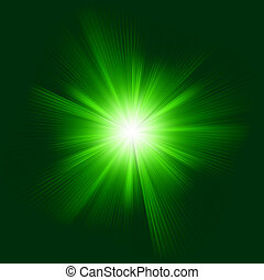 Green color design with a burst. EPS 8 vector file included