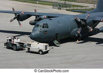 Canadian Airforce - Canadian airforce Hercules on tarmac at...