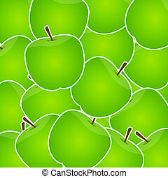 Apples sweet background vector illustration
