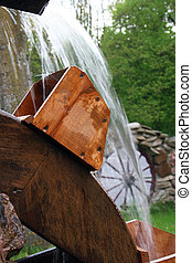 Water mill - Wooden wheel of an ancient water mill