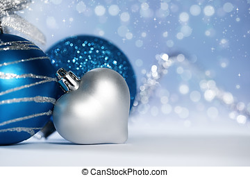 metallic background - christmas background with various...