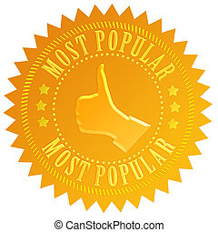 Most popular seal - Most popular business seal isolated on...