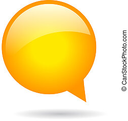 Orange speech bubble - Vector orange round speech bubble...