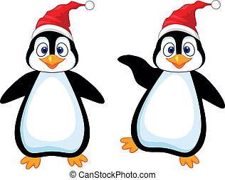 Happy penguin cartoon - Vector illustration of happy penguin...