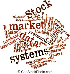 Word cloud for Stock market data systems - Abstract word...