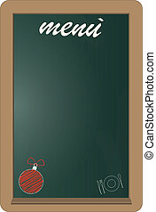 menu christmas - christmas menu on green billboard with...