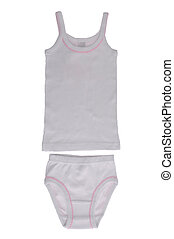 Children's underwear - set for the girl's underwear isolated...