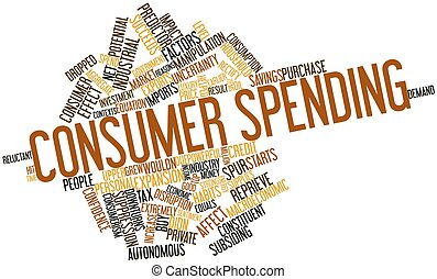 Word cloud for Consumer spending - Abstract word cloud for...