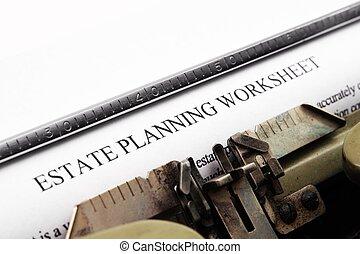 Estate plan worksheet