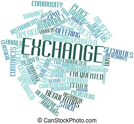 Exchange - Abstract word cloud for Exchange with related...