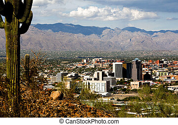 Tucson Skyline - A view of Tucson from A mountain