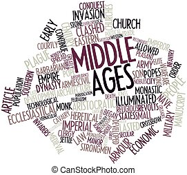 Middle Ages - Abstract word cloud for Middle Ages with...