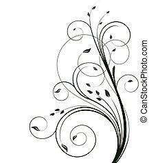 Floral ecology background illustration