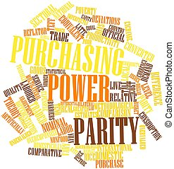 Purchasing power parity - Abstract word cloud for Purchasing...