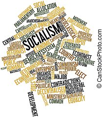 Socialism - Abstract word cloud for Socialism with related...