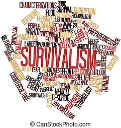 Word cloud for Survivalism - Abstract word cloud for...
