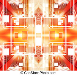 Digital illustration tech - technology background with...