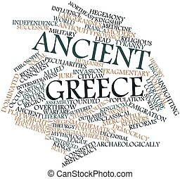 Ancient Greece - Abstract word cloud for Ancient Greece with...