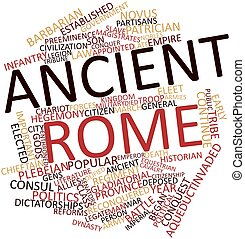 palabra, nube, antiguo, roma