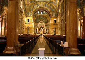 Interior of Saint Louis Cathedral - Saint Louis Cathedral...
