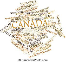 Word cloud for Canada - Abstract word cloud for Canada with...