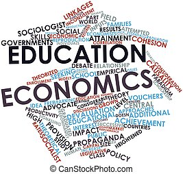 Education economics - Abstract word cloud for Education...