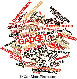 Gadget - Abstract word cloud for Gadget with related tags...
