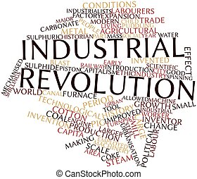 Word cloud for Industrial Revolution - Abstract word cloud...