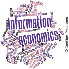 Information economics - Abstract word cloud for Information...
