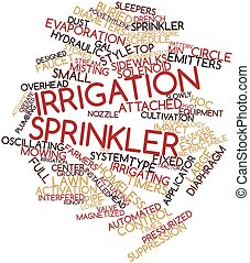Word cloud for Irrigation sprinkler - Abstract word cloud...