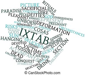 Word cloud for Ixtab - Abstract word cloud for Ixtab with...