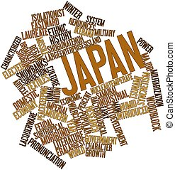 Word cloud for Japan - Abstract word cloud for Japan with...