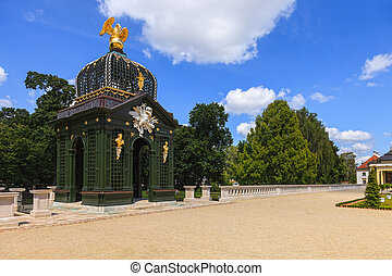 Gardens in Bialystok - Baroque pavilion at the Eagle in the...