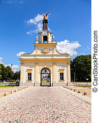 Main Gate - Gate of the Branicki Palace in Bialystok, Poland...