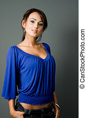 young latina standing tall - a young and attractive latina...