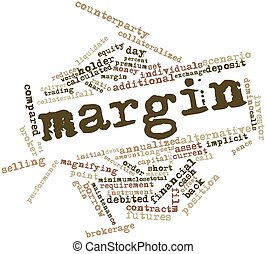 Word cloud for Margin - Abstract word cloud for Margin with...