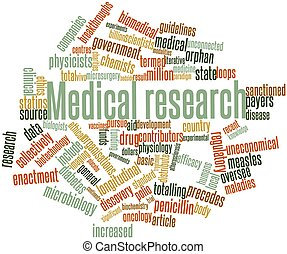 Medical research - Abstract word cloud for Medical research...