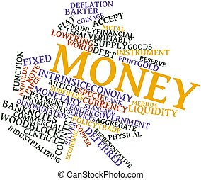 Word cloud for Money - Abstract word cloud for Money with...