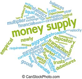 Money supply - Abstract word cloud for Money supply with...