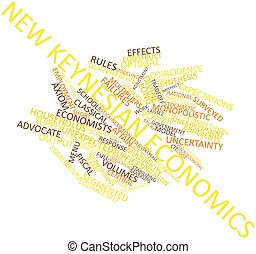 New Keynesian economics - Abstract word cloud for New...