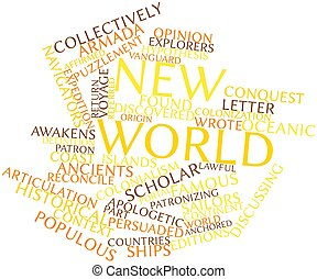 Word cloud for New World - Abstract word cloud for New World...