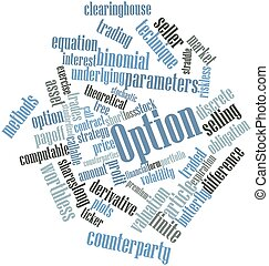Option - Abstract word cloud for Option with related tags...